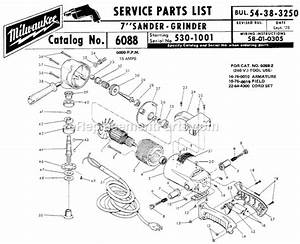 Milwaukee 6088 Parts List And Diagram