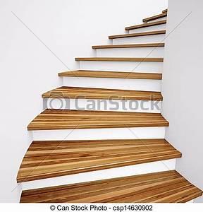 Escalier Bois Blanc : bois escalier bois mener haut mur blanc escalier ~ Melissatoandfro.com Idées de Décoration