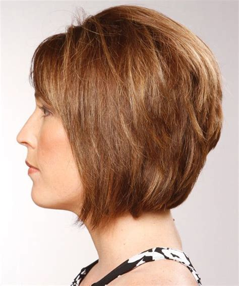 medium layered bob haircut pictures medium formal bob hairstyle with side swept bangs 5805