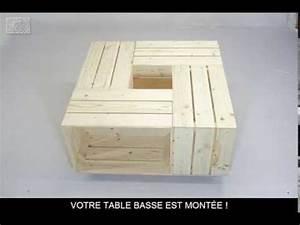 Table Basse Caisse Bois : fabriquer une table basse avec des caisses de vin palettes caisse table et caisse bois ~ Nature-et-papiers.com Idées de Décoration
