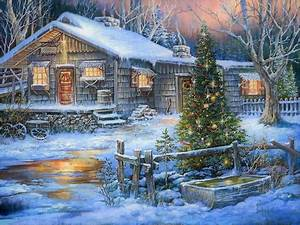 a, country, christmas, wallpaper, and, background, image