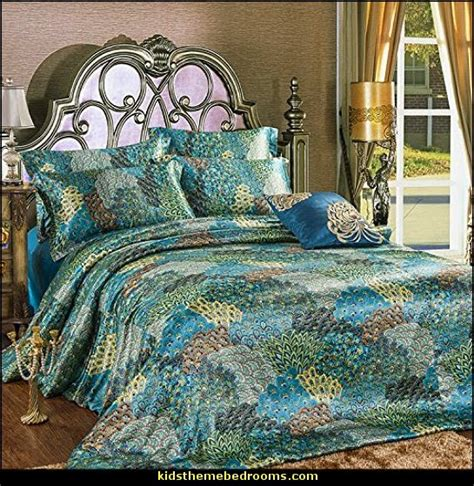 Peacock Bedding by Decorating Theme Bedrooms Maries Manor Peacock Theme