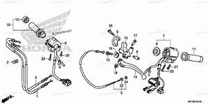Honda Motorcycle 2014 Oem Parts Diagram For Handle Switch