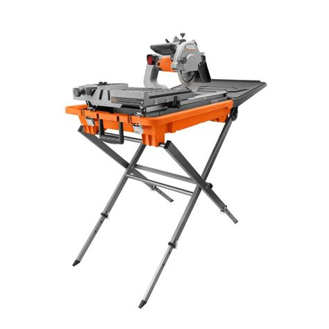 Ridgid Tile Saw Stand by Ridgid 8 In Tile Saw With Stand R4040s The Home Depot