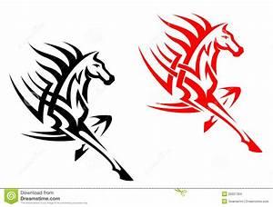 Tribal mustang stallion stock vector. Illustration of ...
