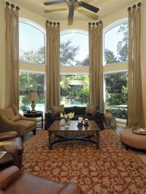 living room draperies  window treatments design