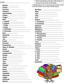 turkey write the books of the bible sheet