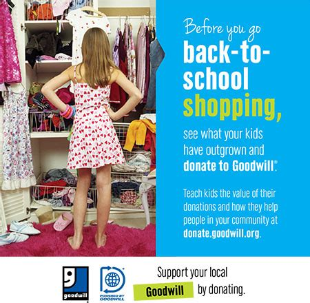 quot clean out the closet and donate to goodwil quot goodwill