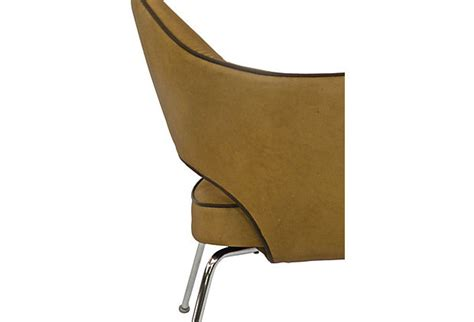butter yellow leather arm chair omero home