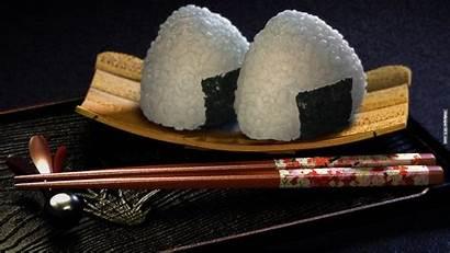 Japanese Cuisine Balls Onigiri Sticks 3d Asian