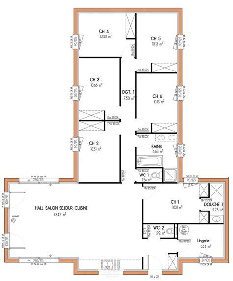 maison 6 chambres plan top maison