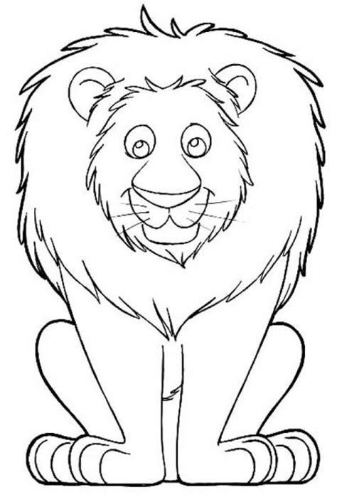 printable coloring sheets  lion  preschoolers