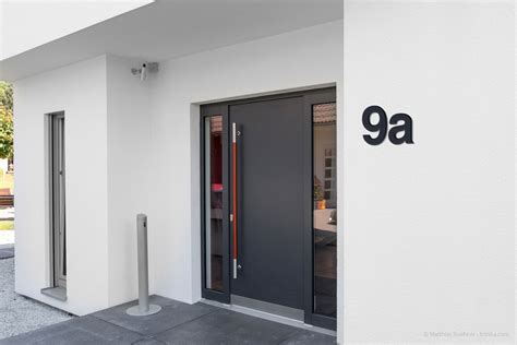 Ral Anthrazit 7016 by Edelstahl Hausnummer C Anthrazit Thorwa Design