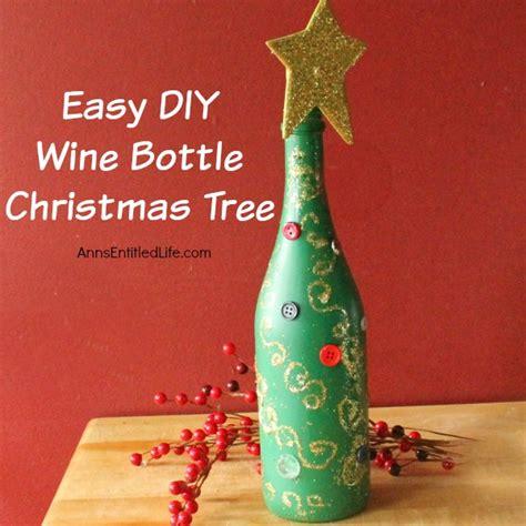 easy diy wine bottle christmas tree