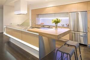 natural wood modern kitchen | Interior Design Ideas.