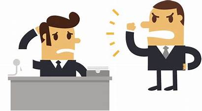 Boss Cartoon Clipart Bossy Manager Employee Angry