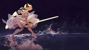 4534637, Anime, Girls, White, Hair, Gauntlets, Armor, Fantasy, Girl, Braids, Knight, White