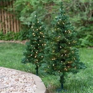 outdoor decorations 2 39 walkway pre lit winchester fir