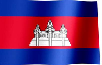 Cambodia Flag Animated Order Singapore Waving Kingdom