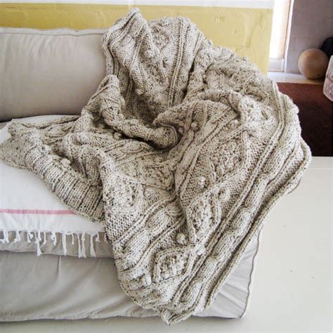 chunky cable knit blanket knitting pattern for chunky cable knit throw