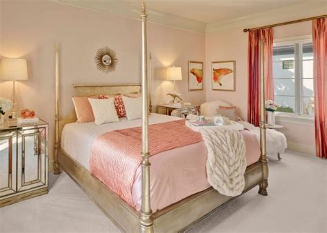 pretty  pink master bedroom hgtv