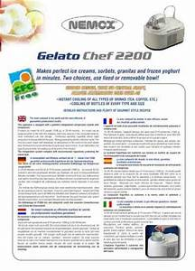 Nemox Chef 2200 Ice Cream Maker Download Manual For Free