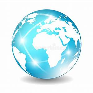 Earth globe icon stock vector. Illustration of information ...