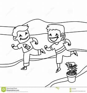 Child jogging free colouring pages for Jogging timer