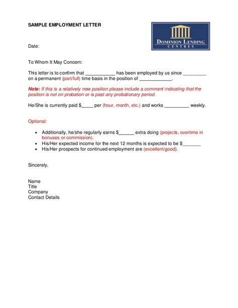 letter  employment template canada letter  resignation