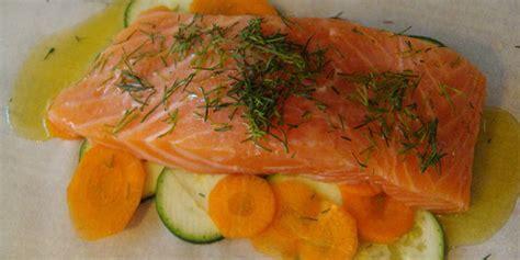 pavé de saumon en papillote recette saumon en papillote facile jeux 2 cuisine