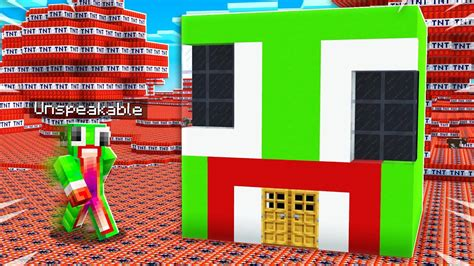tnt  unspeakables minecraft house youtube