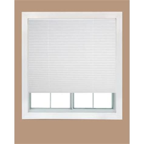 home depot ceiling l shades redi shade white fabric corded light filtering pleated