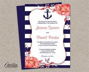 marine wedding invitations nautical wedding invitation With wedding invitation marine design