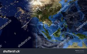 Planet Earth Map Nightday Morning Composition Stock ...