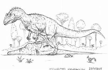 Coloring Pages Rex Indominus Megaraptor Jurassic Dinosaur