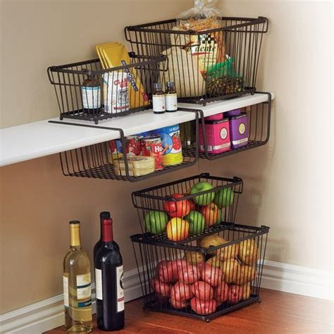 Fancy  York Stackable Pantry Storage Basket