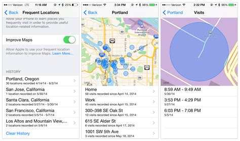 iphone frequent locations frequent locations api in ios 8 aaron parecki