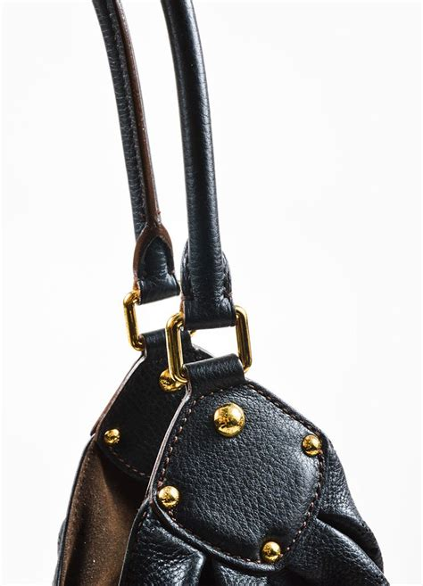 louis vuitton black mahina leather monogram  hobo