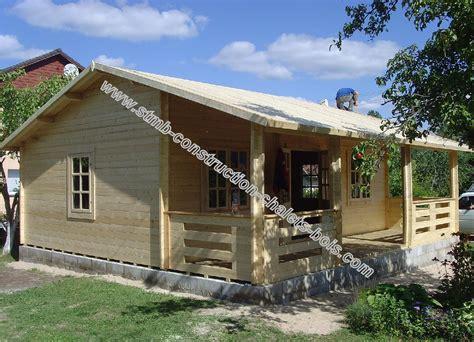 kit chalet en bois chalet bois en kit rennes 56 m2 avec terrasse couverte