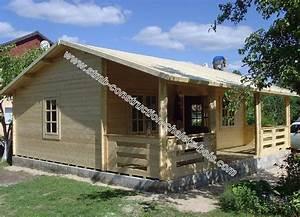 Chalet Bois Kit : chalet bois en kit rennes 56 m2 avec terrasse couverte ~ Carolinahurricanesstore.com Idées de Décoration