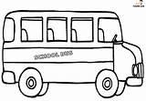 Bus Coloring Printable Preschool sketch template