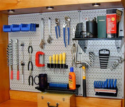 pegboard tool storage garage organization blog
