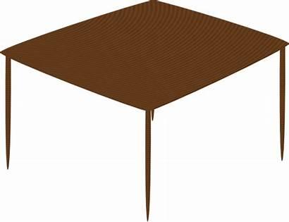 Table Cartoon Square Clipart Clip Vector Kitchen