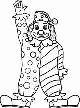 Clown Coloring Krusty Printable Preschoolers Getcolorings Getdrawings sketch template