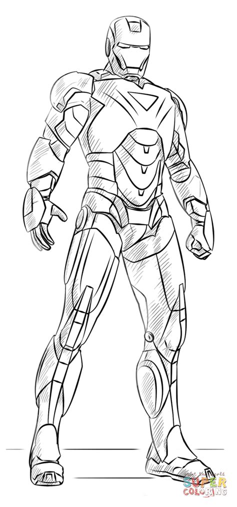 iron man coloring page  printable coloring pages