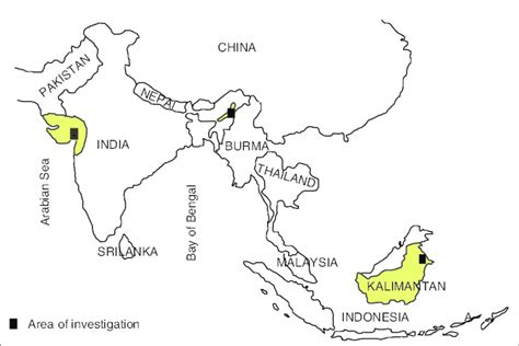 map  india  indonesia showing location