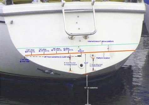 Sailboat Swim Platform by Adding A Swim Platform To 36 36 375