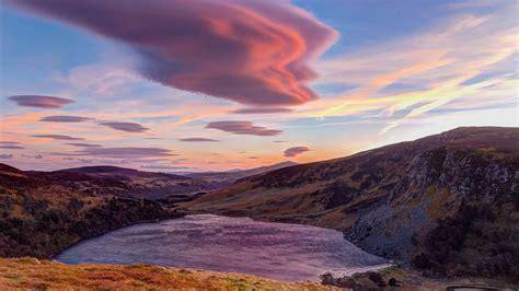 wallpaper hill cloud  hd wallpaper sky sunset