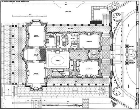 Kykuit, First Floor Plan, Known Also As The John D