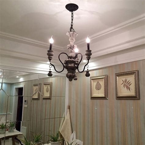 Large Foyer Chandeliers by Iron Resin Chandelier Lighting Vintage Light Hotel Dining
